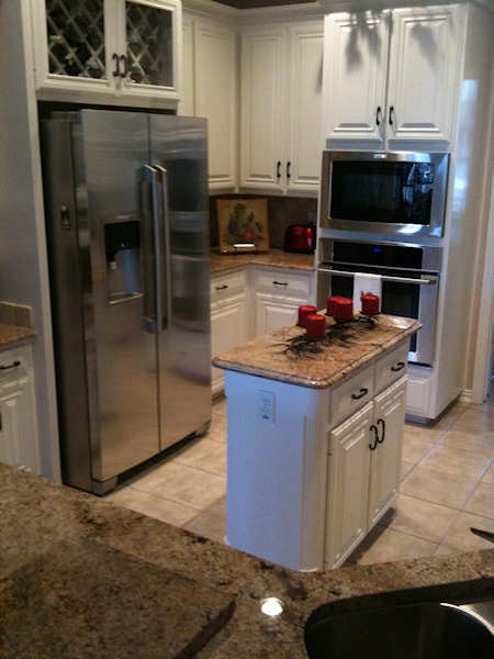 P m quality construction casablanca fan install and for Kitchen remodeling arlington tx